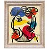 Peter Keil Abstract Oil Portrait Painting 'Matador'
