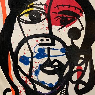 "Peter Keil ""Zeitgeist"" Oil Painting"