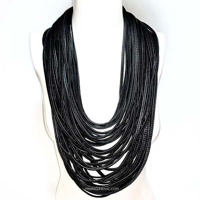 Monies Multi Strand Leather Necklace