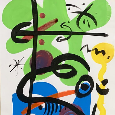 Peter Keil Abstract Oil Painting 79