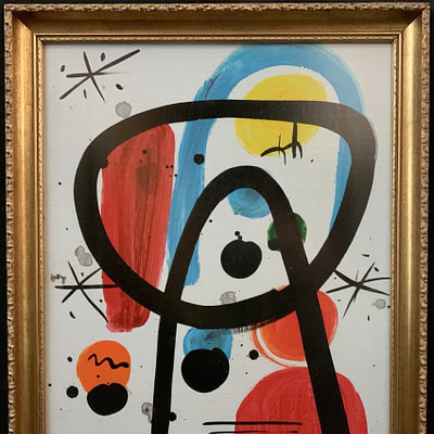"Peter Keil ""Sun Moon Stars"" Oil Painting"