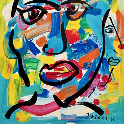 Peter Keil Neo Expressionism Oil Painting