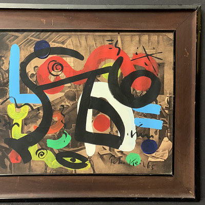 Peter Keil Abstract Oil Painting 1965