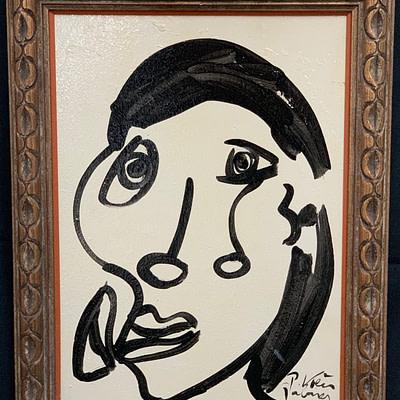 """Peter Keil """"Sophia Loren"""" Oil Painting"""