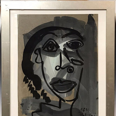 Peter Keil My Friend Pablo Picasso Studio Oil Painting