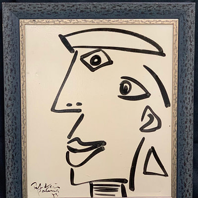 "Peter Keil ""Pablo Picasso"" Oil Painting"
