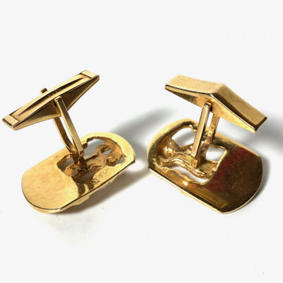 14K Gold Golfer Golf Swing Cufflinks