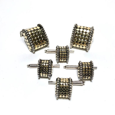 Materials: 18k Gold, Sterling Silver