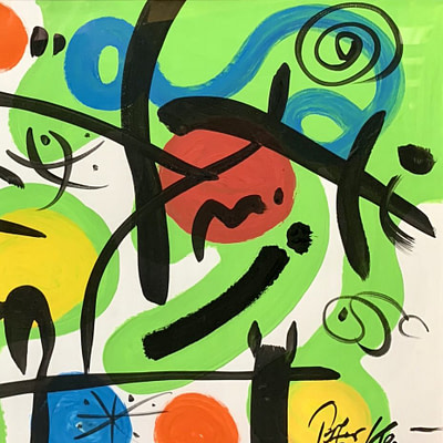 Peter Keil Abstract Oil Painting Paris 75