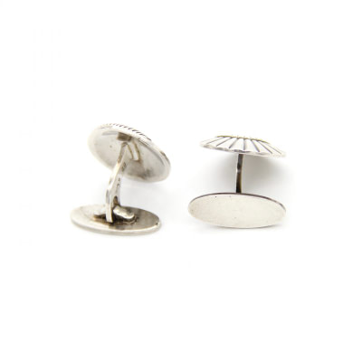Georg Jensen Sterling Seashell Cufflinks-1
