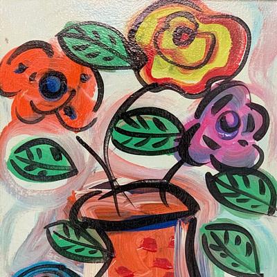 """Peter Keil """"Marilyn Monroe"""" Oil Painting"""