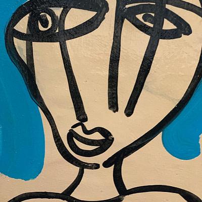 "Peter Keil ""Gina Lollobrigida"" Oil Painting"