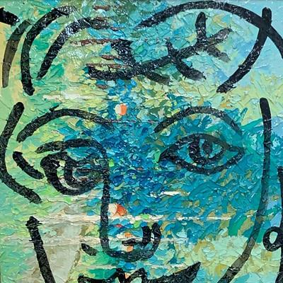 """Peter Keil """"Woman"""" Oil Painting"""