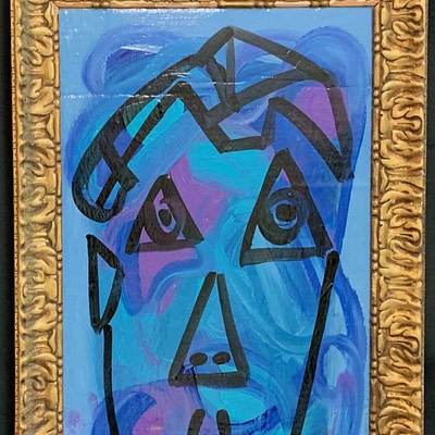 "Peter Keil ""Blue Period"" Oil Painting"
