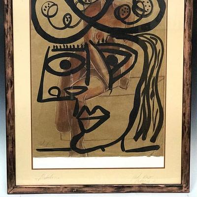 """Peter Keil Picasso """"Matador"""" Portrait Painting"""