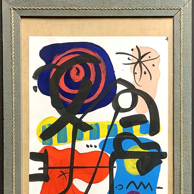 Peter Keil Abstract Oil Painting Paris 1975
