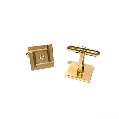 14K Gold and Diamond Cufflinks by Larter
