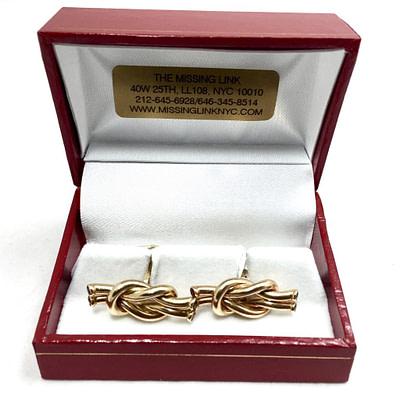 14K Gold Reef Knot Cufflinks