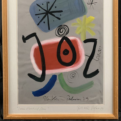 Peter Keil Abstract Miró Style Painting