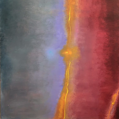 Adele Mailer Abstract Oil on Canvas 1985