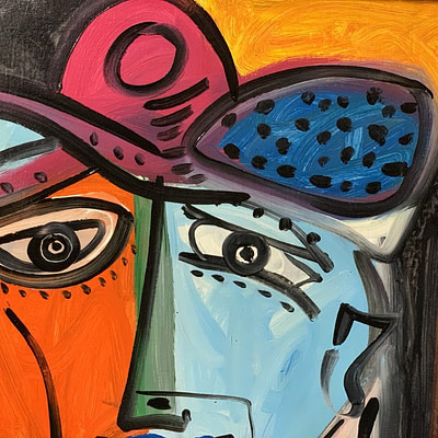 """Peter Keil """"Pablo Picasso"""" Oil Painting"""