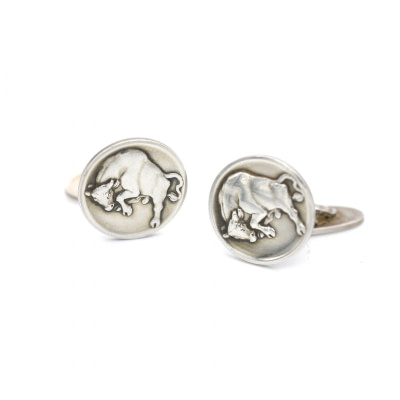 Georg Jensen Sterling Bull Cufflinks
