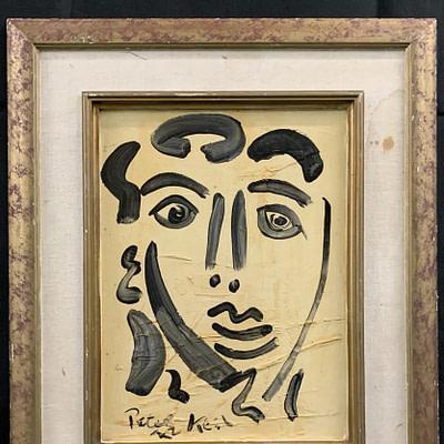 """Peter Keil """"Young Man"""" Portrait 1972"""