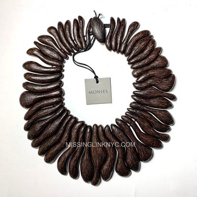 Monies Palm Wood Necklace