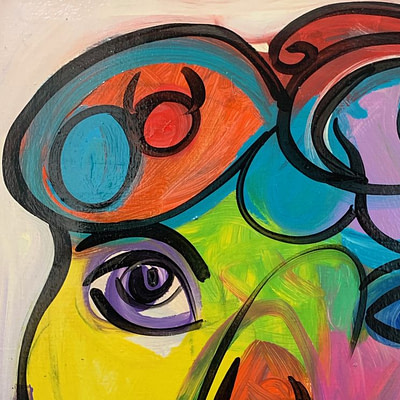 Peter Keil Abstract Expressionist Oil Painting