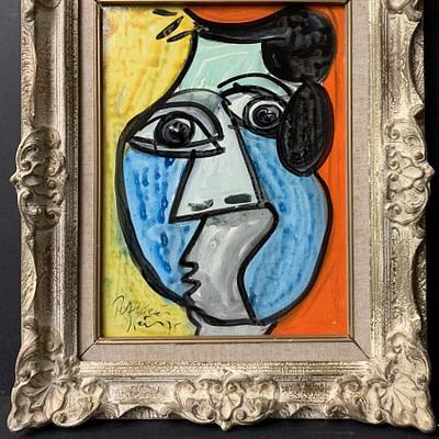 """Peter Keil """"Matador"""" Oil Painting 1975"""