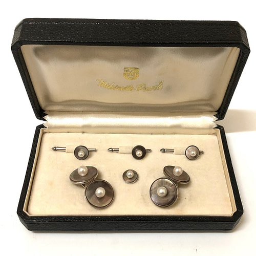 Mikimoto Abalone and Pearl Stud Set
