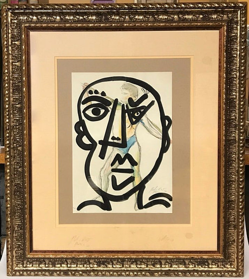 "Neo Expressionism Abstract Portrait ""Me in Paris"" Painting Peter Keil Paris 1976"